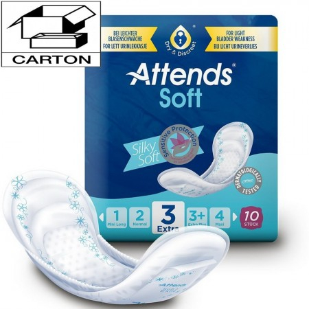 Soft - Absorption 3 Extra - Carton de 80 protections anatomiques - Attends