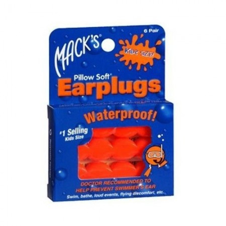 Protections auditives waterproof enfants - 6 paires - Mack's