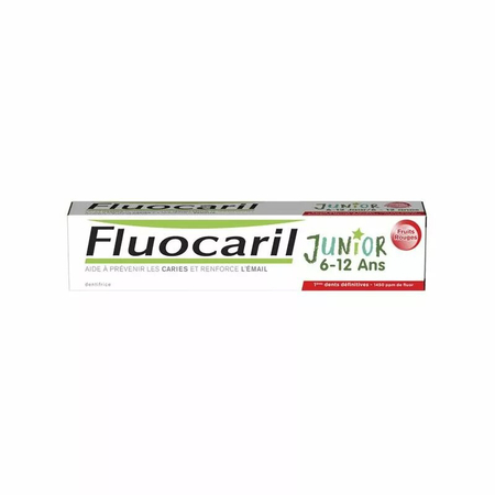 Dentifrice Junior 6-12 ans Goût Fruits rouges - 75 ml - Fluocaril