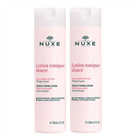 Lotion tonique douce aux Pétales de Rose -  Lot de 2 x 200 ml - Nuxe