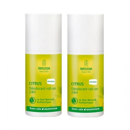 Déodorant roll-on Citrus - Lot de 2 x 50 ml - Weleda