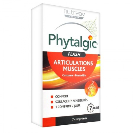 Phytalgic Flash - Articulations muscles - 7 comprimés - Nutreov Physcience