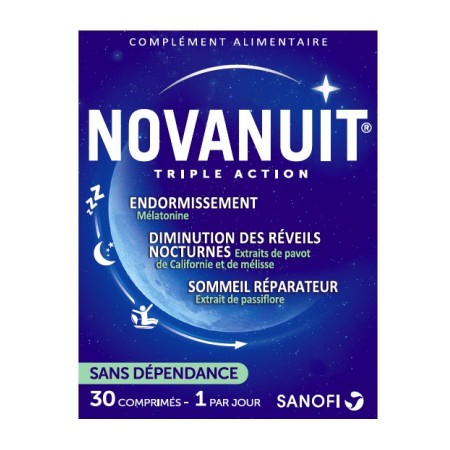Novanuit triple action - 30 comprimés - Sanofi France