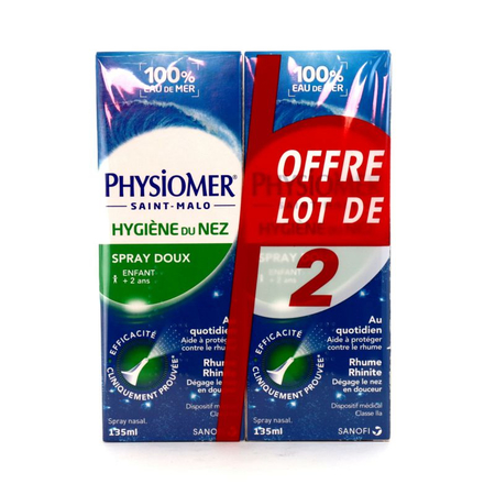 Physiomer - Hygiène du Nez Spray - Lot de 2 x 135ml - Sanofi France
