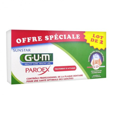 Paroex - Gel dentifrice - Lot de 2 x 75 ml - GUM