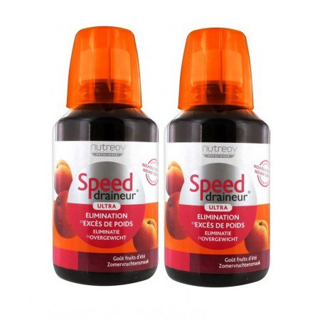 Speed Draineur Ultra goût Fruits d'été - Lot de 2 x 280 ml - Nutreov Physcience