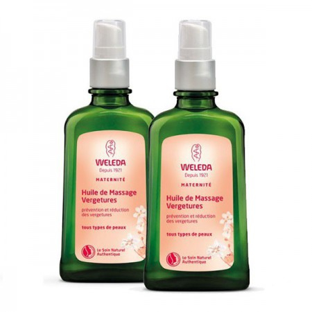 Maternité - Huile de massage vergetures - Lot de 2 x 100 ml - Weleda