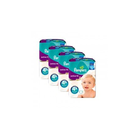 248 Couches Pampers Active Fit taille 4+ - Pampers