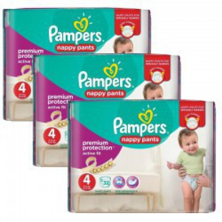 Active Fit - Taille 4 - Pack de 128 couches - Pampers
