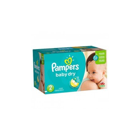 252 Couches Pampers Baby Dry taille 2 - Pampers