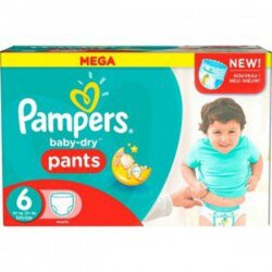 Baby dry pants taille 6 pack de 190 couches de pampers - Comparatif couches jetables ...