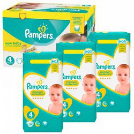 New Baby - Taille 4 - Pack de 270 couches - Pampers