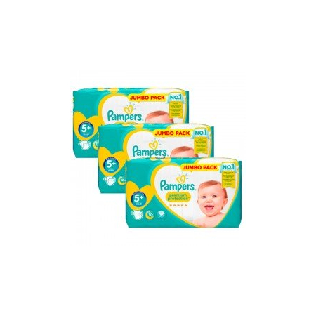 135 Couches Pampers New Baby - Premium Protection taille 5+ - Pampers