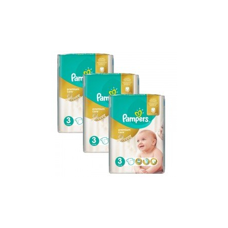 180 Couches Pampers Premium Care - Prima taille 3 - Pampers