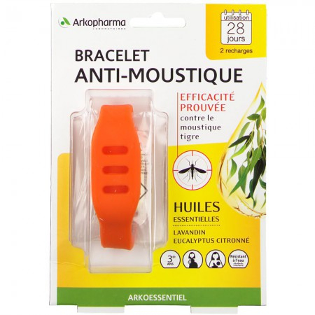Arko Essentiel - Bracelet Anti-Moustique - Orange - Arkopharma