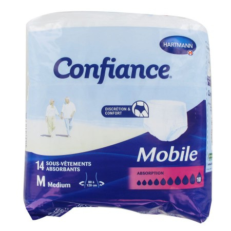 Confiance - Mobile Absorption 10 Gouttes Medium - 14 sous-vêtements absorbants - Hartmann