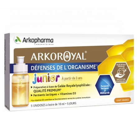 Arkoroyal - Défense de l'Organisme Junior - 5 x 10 ml - Arkopharma