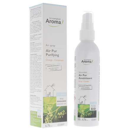 Air Pur - Spray Ambiant Assainissant Orange Cannelle Bio - 200 ml - Le Comptoir Aroma
