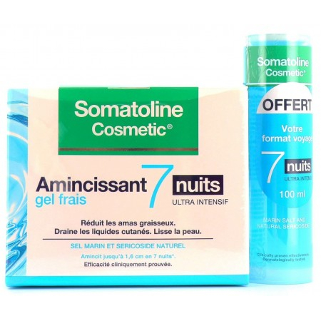 Amincissant 7 Nuits Gel Frais 400ml + Format Voyage 100ml OFFERT - Somatoline Cosmetic
