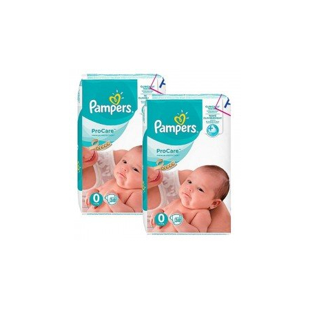 76 Couches Pampers ProCare Premium protection taille 0 - Pampers