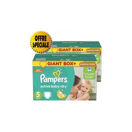 341 Couches Pampers Active Baby Dry taille 5 - Pampers