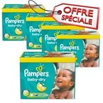 75 Couches Pampers Baby Dry taille 5+