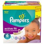 256 Couches Pampers Active Fit taille 6