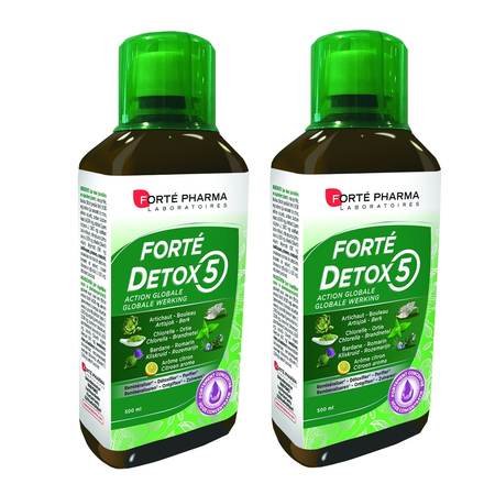 Duo Pack Forté Détox 5 Organes - 2x500ml - Forte Pharma