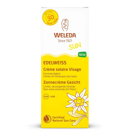 Edelweiss - Crème Solaire Visage SPF30 - 50ml - Weleda