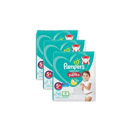 272 Couches Pampers Baby Dry Pants taille 5+ - Pampers