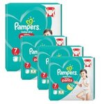 232 Couches Pampers Baby Dry Pants taille 7