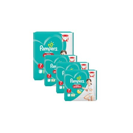 232 Couches Pampers Baby Dry Pants taille 7 - Pampers