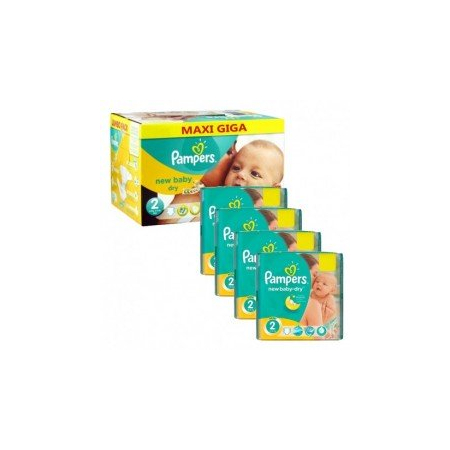 400 Couches Pampers New Baby Dry taille 2 - Pampers