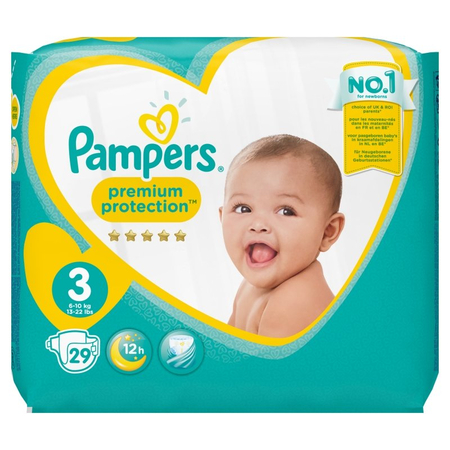 New Baby Premium Protection T3 6-10kg - 29 couches - Pampers