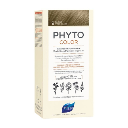 PhytoColor Coloration Permanente 9 Blond Très Clair - Phyto