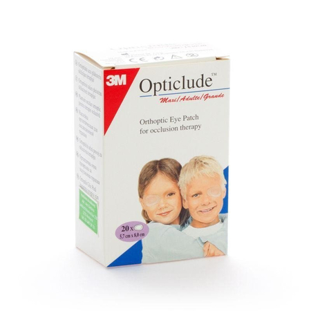 Opticlude Compresses Oculaires Standards 82mmx57mm - 20 pièces - 3M