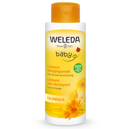 Baby Liniment Soin Nettoyant Pour le Change Calendula - 400ml - Weleda