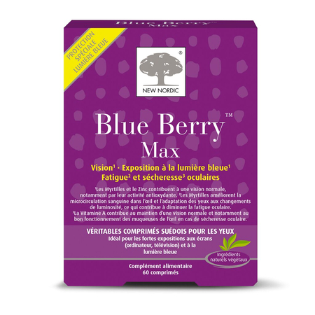 Blue Berry Max - 60 comprimés - New Nordic