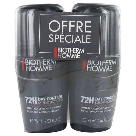 Homme Pack 72H Day Control Anti-Transpirant - 2 x 75ml - Biotherm