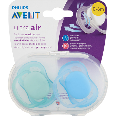 Sucettes Ultra Air Mixed 0 mois+ - 2 pièces - Avent