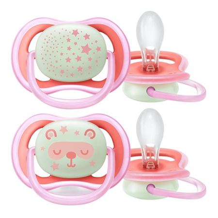 Sucettes Air Night Girl 6 mois+ - 2 pièces - Avent