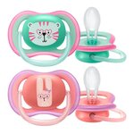 Sucettes Ultra Air Tigre Lapin 18 mois+ - 2 pièces