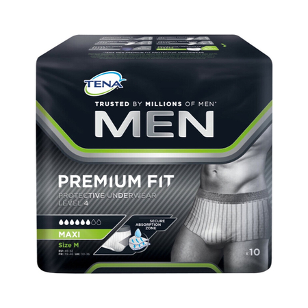 Men Premium Fit Protective Underwear Level 4 10 pces - Tena