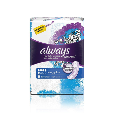 Pour Fuites Urinaires Long Plus - 8 serviettes - Always
