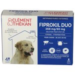 Fiprokil Duo 268mg/80mg Solution Spot-On Chiens 20-40kg - 4 pipettes