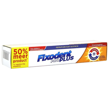 Pro Plus Duo Action Pate Adhesive - 60g - Fixodent