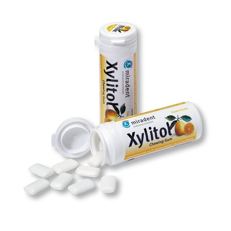 Xylitol Chewing Gum Goût Fruits - 30 gommes - Miradent