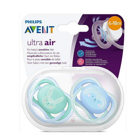 Sucette Ultra Air Silicone 6-18 mois - 2 pièces - Avent