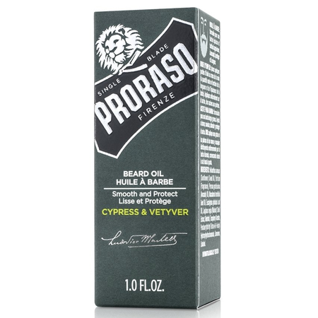 Huile à Barbe Cypress and Vetyver - 30ml - Proraso