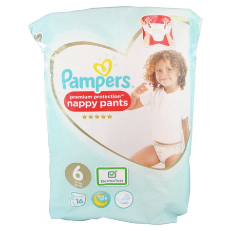 Premium Protection Couches-Culottes Taille 6 (15+ Kg) - 16 pièces - Pampers